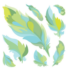 Feather silhouettes vector