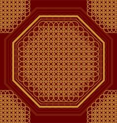 Golden circles vector