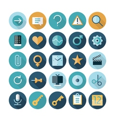 icons flat line ui internet vector image