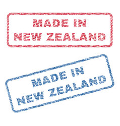 Made in new zealand textile stamps vector
