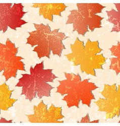 Maple leaves seamless wallpaper vector image vector image