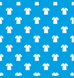 Men tennis t-shirt pattern seamless blue vector