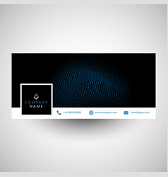 Modern social media cover design vector