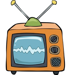 Orange tv vector