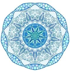 Original lace ornament snowflake vector