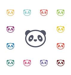 panda flat icons set vector image
