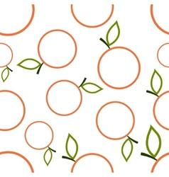 Pattern Circuit Mandarines vector image vector image