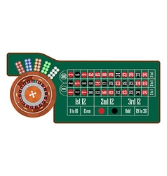 Roulette table vector