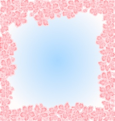 Sakura flowers Spring background frame vector image vector image