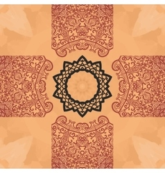Seamless mandala card Geometric circle element in vector image