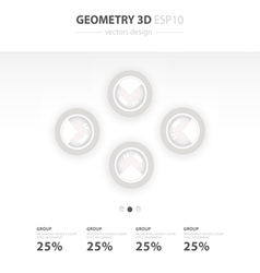Set of paper charts for a presentation vector image vector image