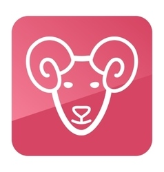 Sheep icon Farm animal vector image
