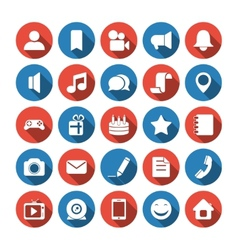 Social and media icons vector