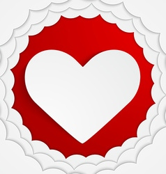 Stylish red heart background vector image vector image