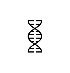 thin line dna icon on white background vector image vector image