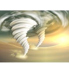 Tornado Swirls vector image vector image