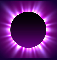 total eclipse of the sun eclipse magic background vector image