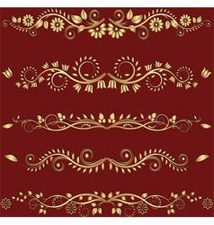 goldenl borders vector image