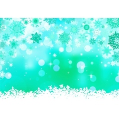 Elegant christmas green with snowflakes eps 8 vector
