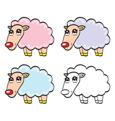 Cute cartoon baby sheep vector image