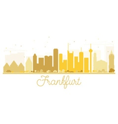 Frankfurt city skyline golden silhouette vector