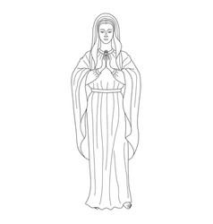Praying virgin mary vector