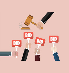 Auction and bidding concept vector
