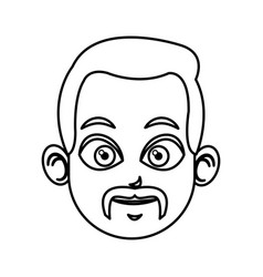 outlined head man charatcer image vector image
