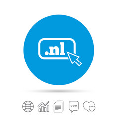 domain nl sign icon top-level internet domain vector image