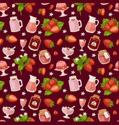 Confectionery desserts strawberry pink delicious vector