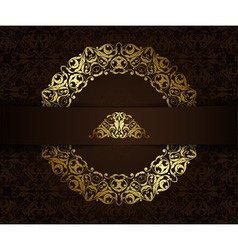 Vintage background with golden elements vector image