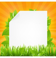 Paper with beams and grass vector