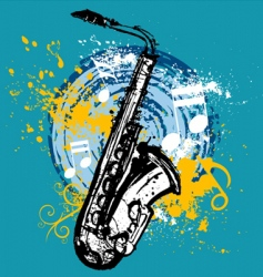 Saxophone design vector