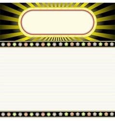 glowing billboard vector image