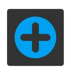 Create flat blue and gray colors rounded button vector