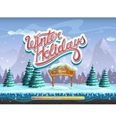 Winter holidays boot screen window for the vector