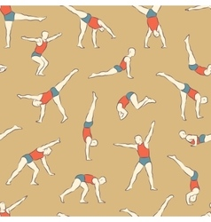 Acrobat pattern1 color vector