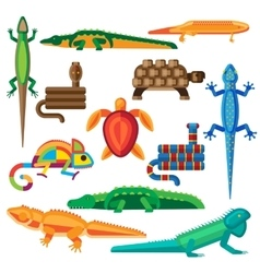 Reptiles set vector