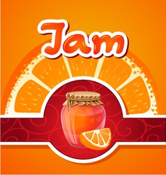 orange jam vector image