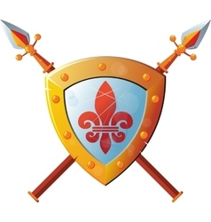 Shield with spear vector