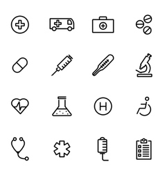 Thin line icons - medical vector