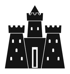 ancient castle palace icon simple style vector image vector image