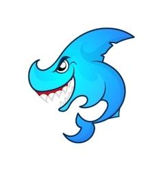 angry shark logo vector image vector image