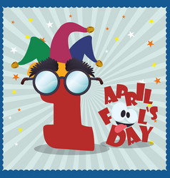 april fools day celebration image vector image