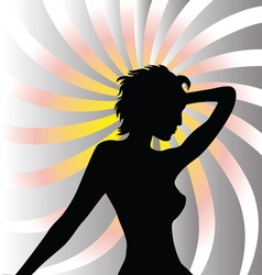 Beautiful woman background vector image