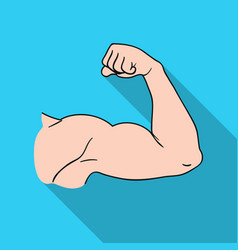 Biceps icon in flat style isolated on white vector