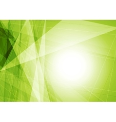 Bright green geometric shapes tech background vector