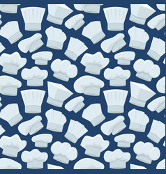 Cartoon chef white hats background pattern vector