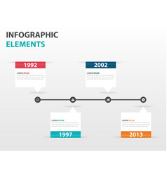 Colorful text box business timeline infographics vector