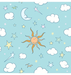 doodles seamless background vector image